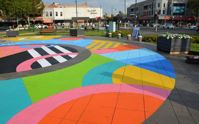 Bendigo placemaking street art