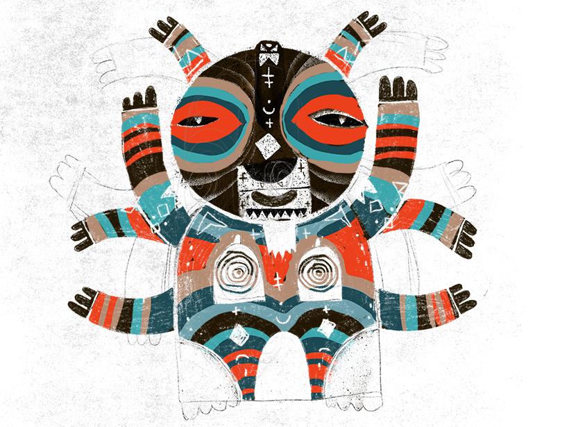 street art tribal character