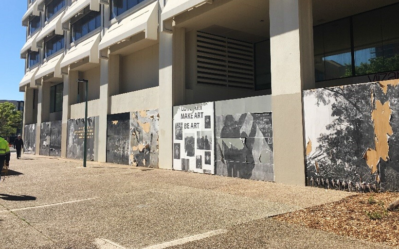 woden town square mural area