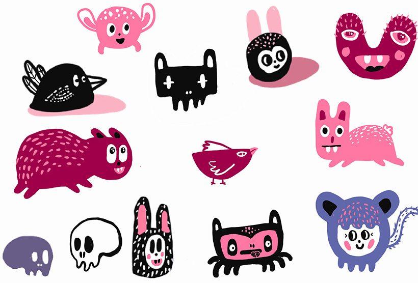 mural creatures
