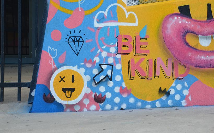 be kind street art
