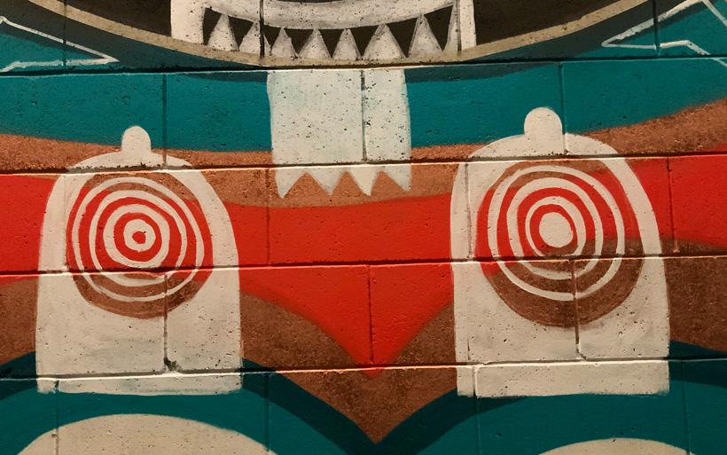 tribal markings street art