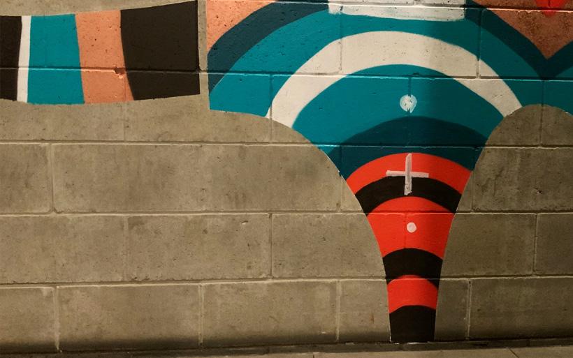 street art leg