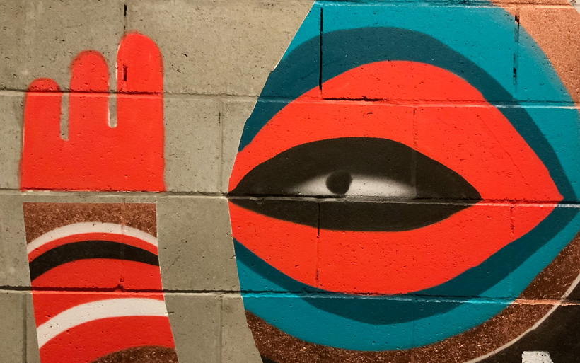 soft shading mural eye