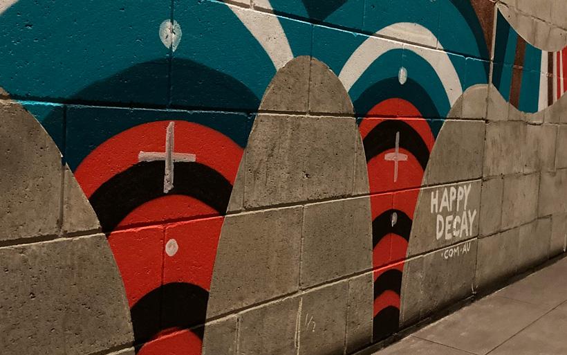 mural leg art