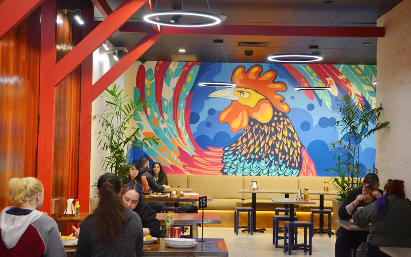 cafe kukulas mural