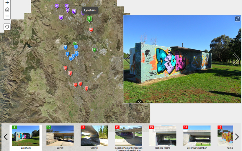 canberra graffiti sites