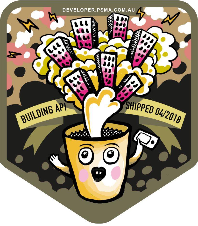 coffee cup badge