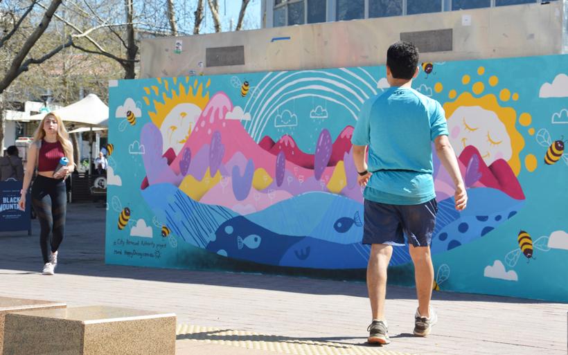 Civic mural in Canberra