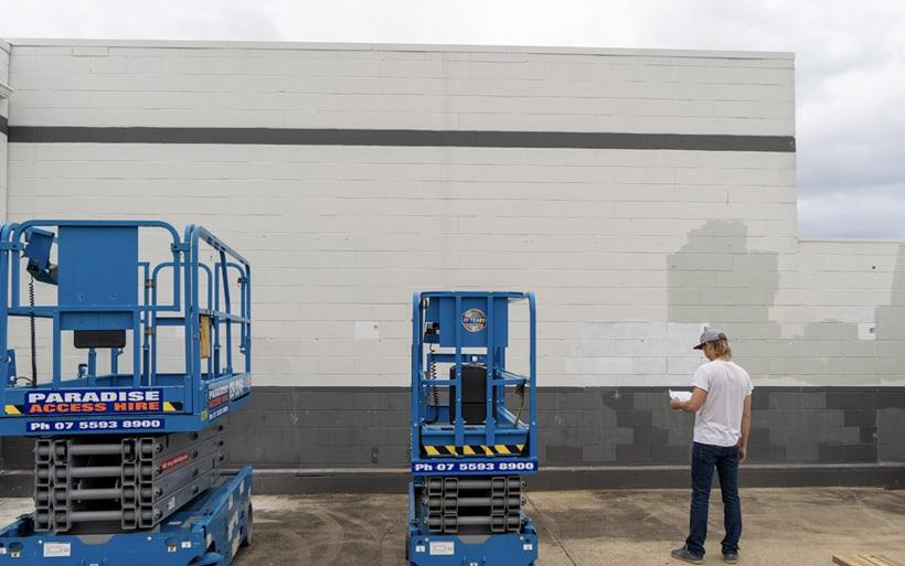 blank wall mural