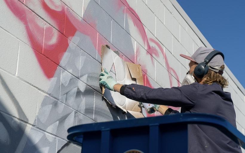 mural stencil