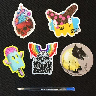 happy decay stickers
