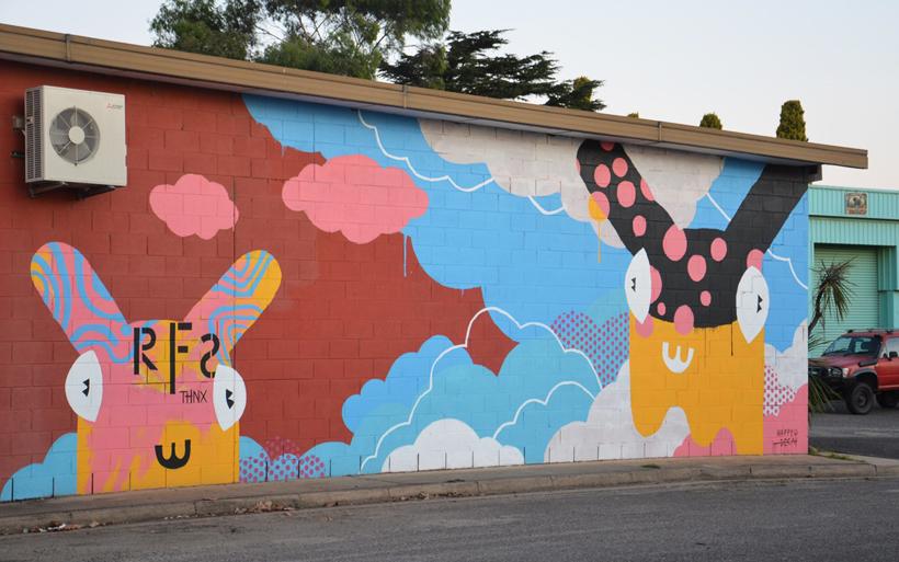mural in moruya
