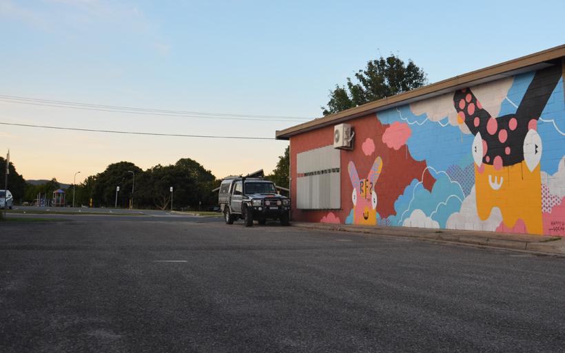 mural near moruya park