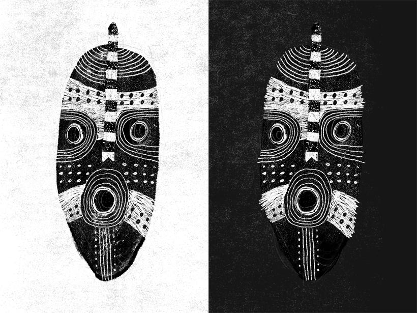 tribal mask illustration