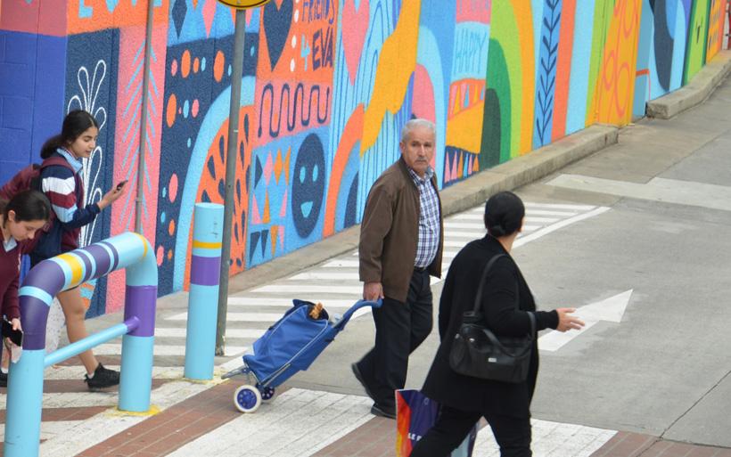 bright mural street