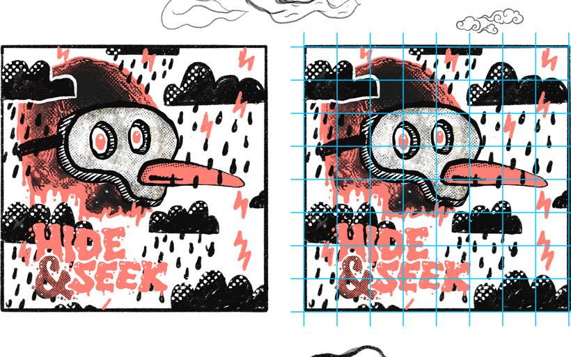 Grid mural scaling technique