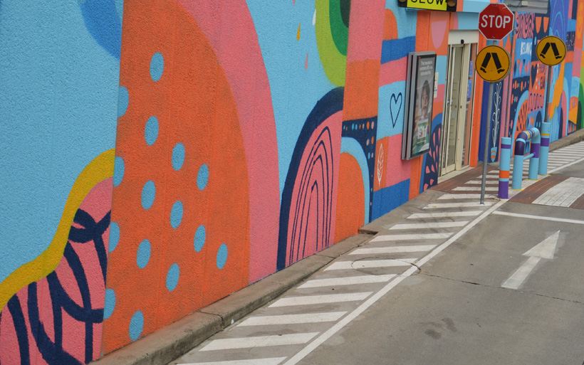 fruity mural shapes