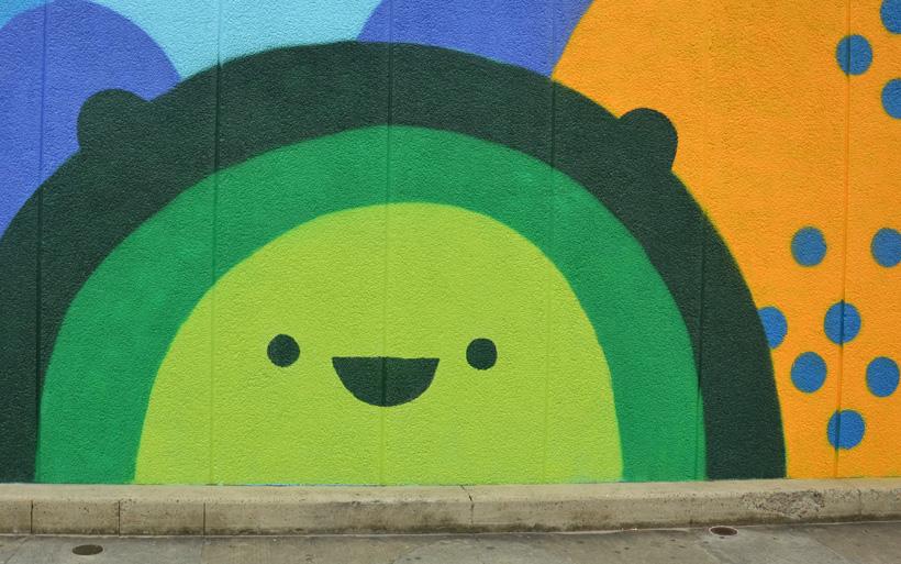 Happy mural Sydney