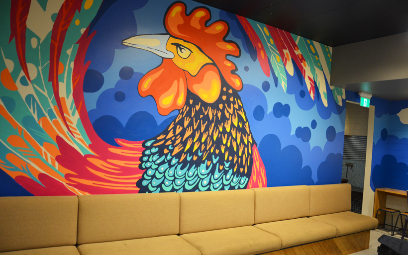 chikcen mural
