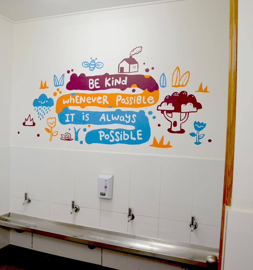 school mural message