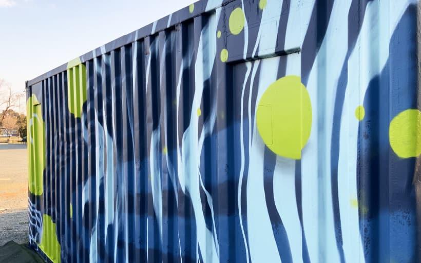 tennis mural
