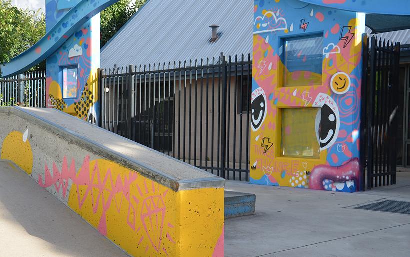 skate-park mural