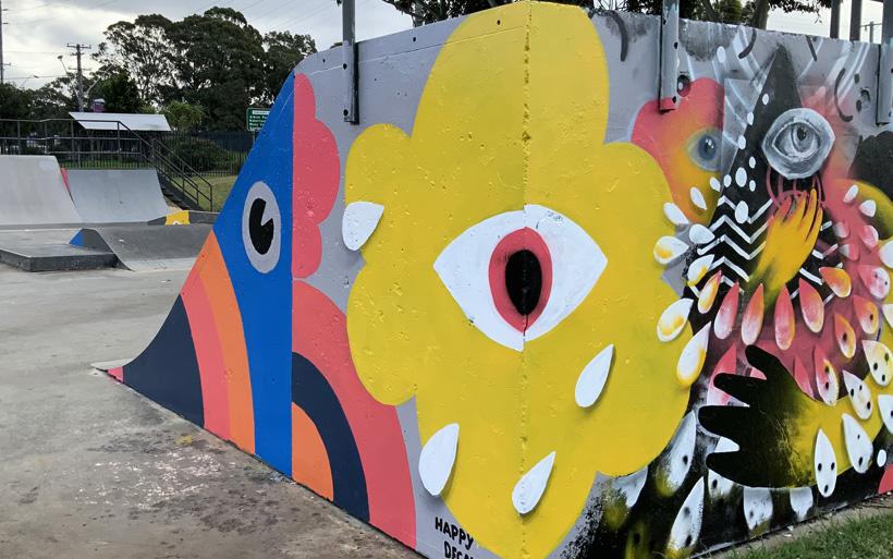 skatepark mural