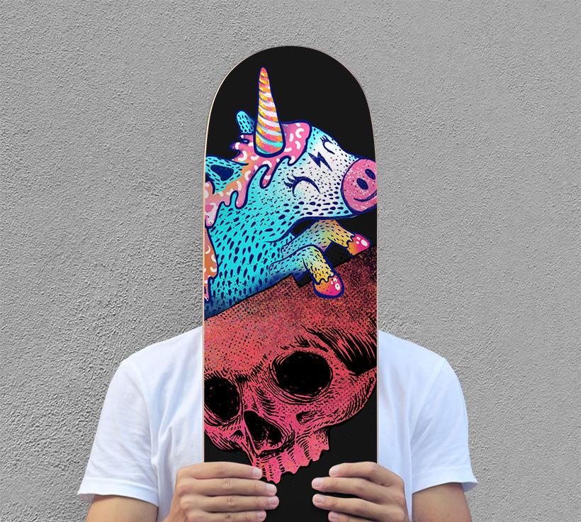 skateboard graphic art