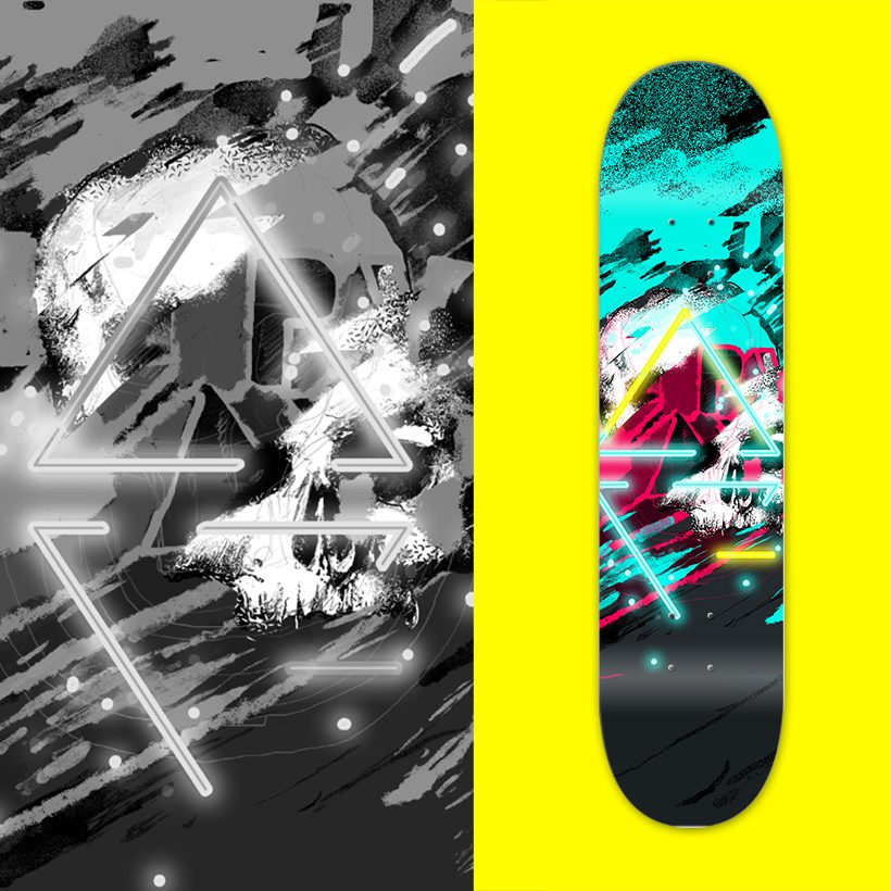 skateboard deck illustrator