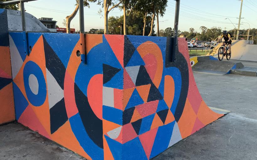 Street art patterns at Albion skatepark