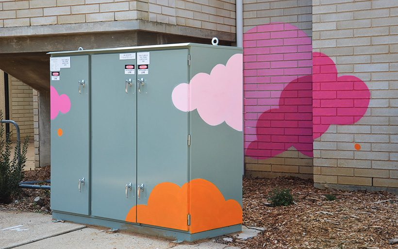 Canberra electrical box street art