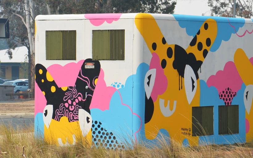 street mural kambah
