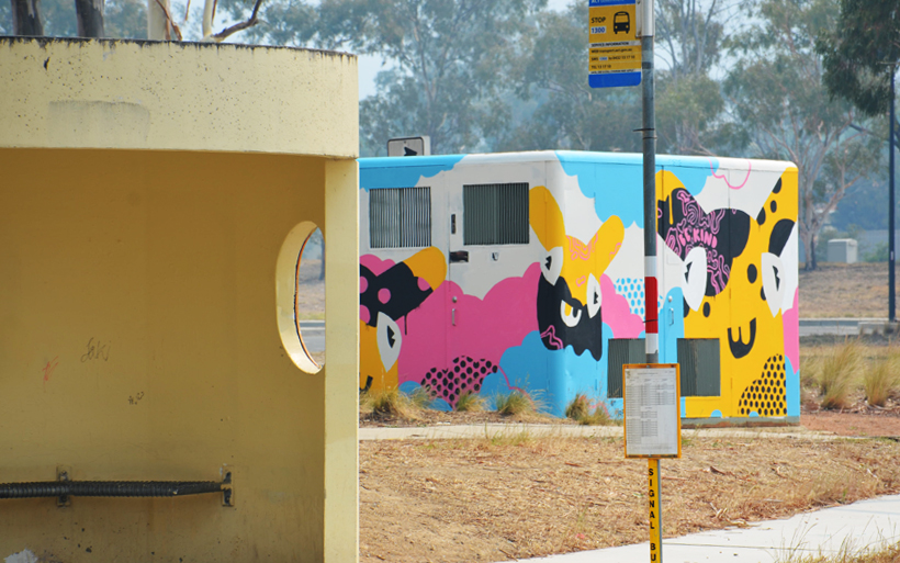 canberra bush shelter and street art