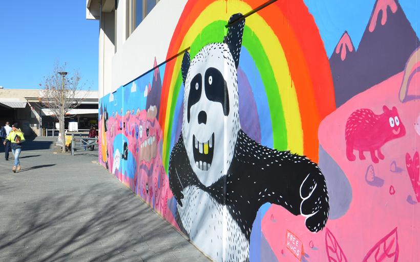 street art panda bear