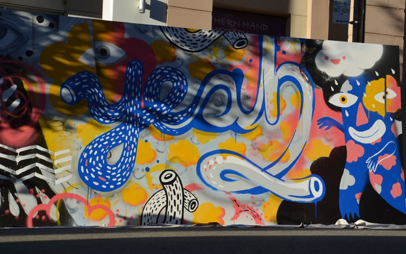 mural in shade