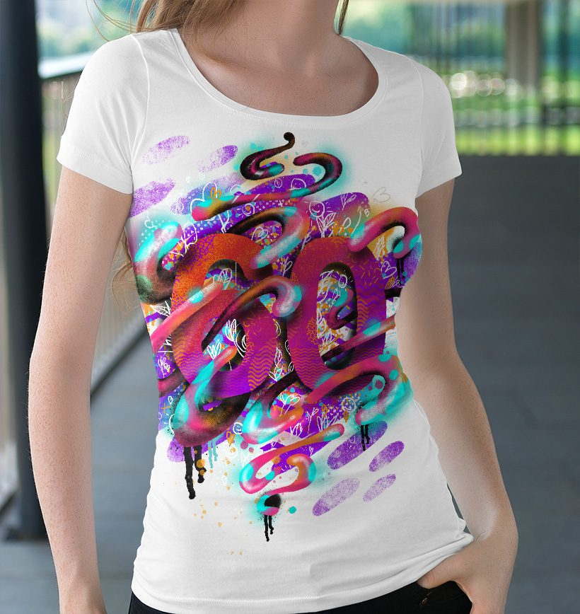illustration on tshirt
