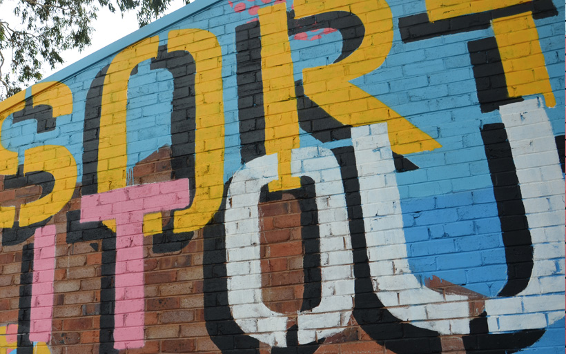 mural typography