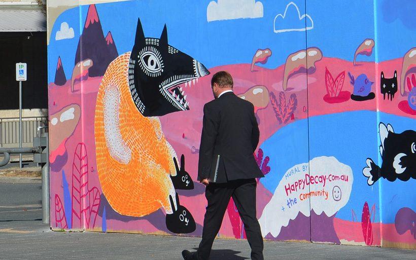 woden street art