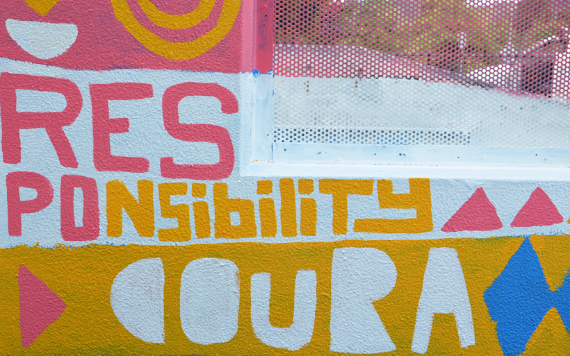 positive mural words